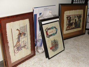 Art waiting to be hung