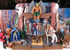 he-man spiderman nativity