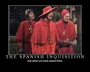 spanish inquisition motivational poster monty python