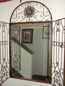 mirror gate in the entryway