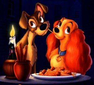 lady and the tramp romantic dinner