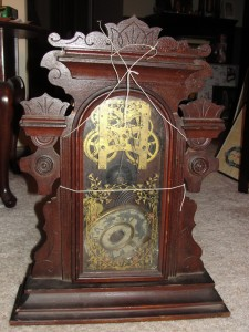 antique mantel clock steampunk mantle