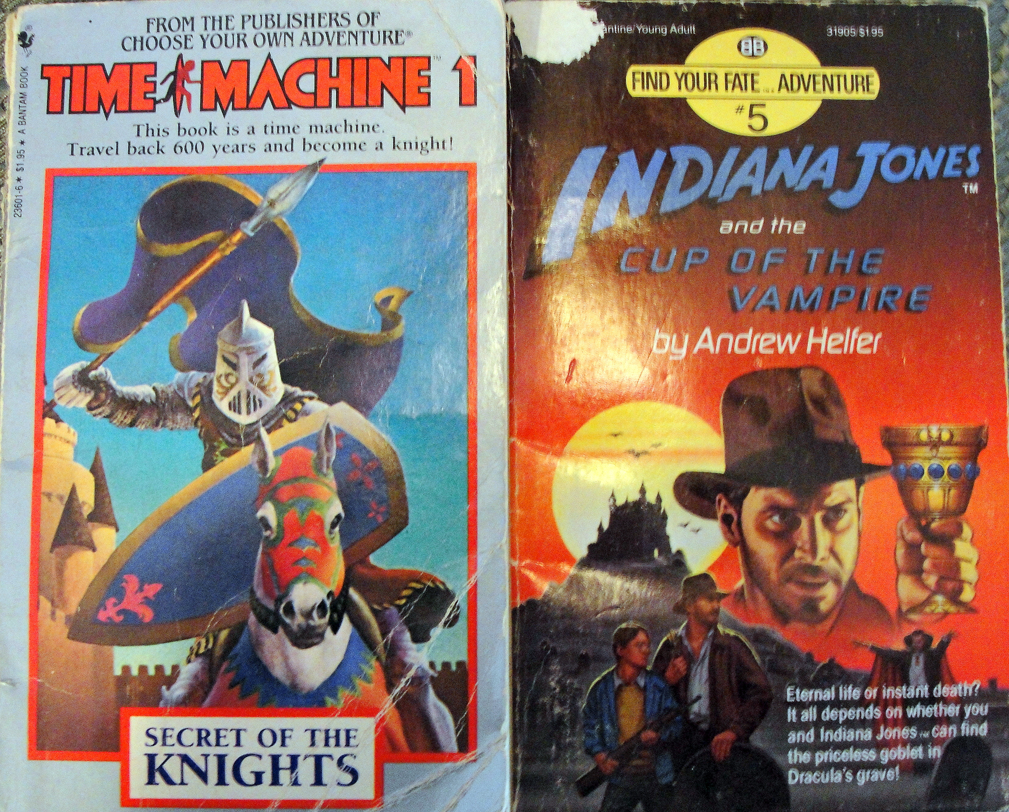 Choose your own adventure books -#18, 33,37,51 and 55