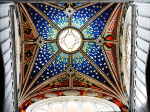 Ceiling of Almudena Cathedral, Madrid