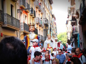 San Fermin Parade of Big Heads, Pamplona-2013
